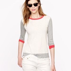 J.Crew Painter Tee in colorblock natural